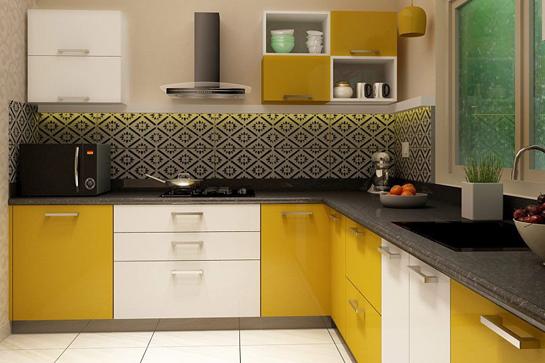 طراحی آشپزخانه تک دیواره یا خطی