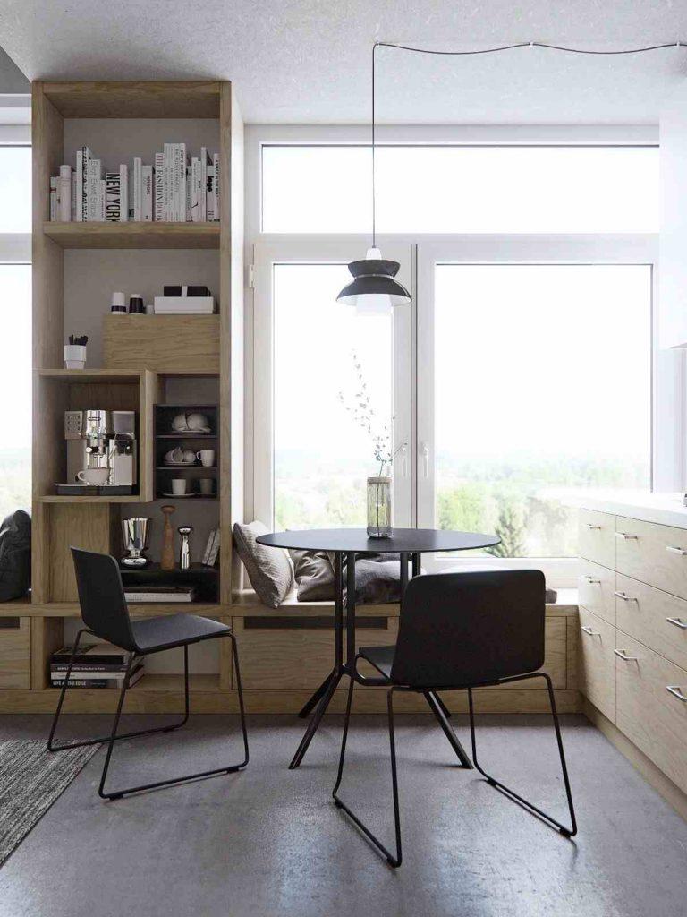 استفاده بهینه از فضای کوچک آپارتمان